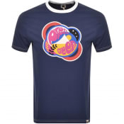 Product Image for Pretty Green Ashcott Logo T Shirt Navy