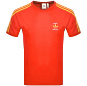 Product Image for Adidas Originals 3 Stripe Espana T Shirt Red